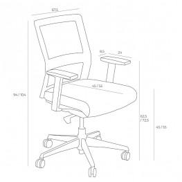MADUU STUDIO Fotel biurowy Press szary/czerwony