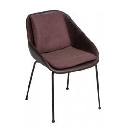 MADUU STUDIO Krzesło Poter Soft M brązowe ciemne