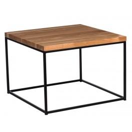 MADUU STUDIO Stolik Cube 60x60 - Drewno / Naturalny / Czarny