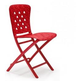 NARDI Krzesło składane Zac Spring czerwone