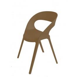 RESOL Krzesło Carla brązowe
