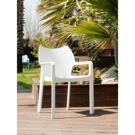 RESOL Krzesło Dionisio White Arm chair