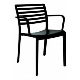RESOL Krzesło Lama z podłokietnikami czarne