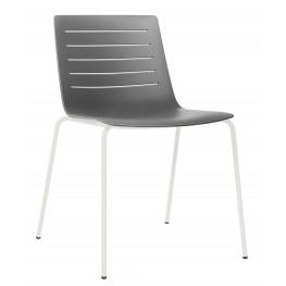 RESOL Krzesło Skin 4 szare podstawa biała