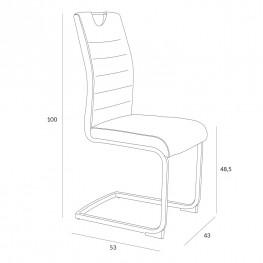 SIMPLET Krzesło Laura jasny szary