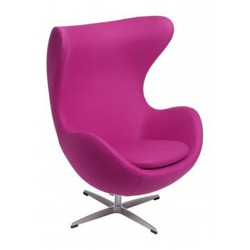 D2.DESIGN Fotel Jajo amarantowy kaszmir 39 Premium