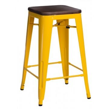 D2.DESIGN Hoker Paris Wood 65cm żółty sosna orzech