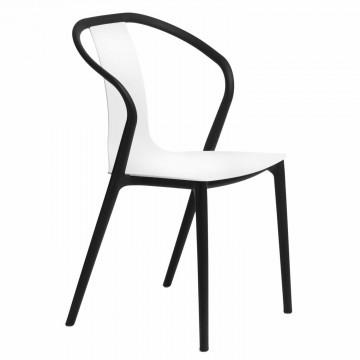 INTESI Krzesło Bella - Czarne / Białe