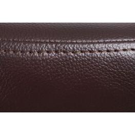 D2.DESIGN Fotel Jajo szeroki z podn. sk. eko 525 brązowy ciemny