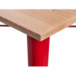 D2.DESIGN Stół barowy Paris Wood czerwony jesion