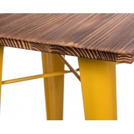D2.DESIGN Stół barowy Paris Wood żółty sosna