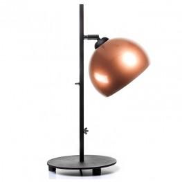 Lampa stołowa industrialna MOON - Miedziana