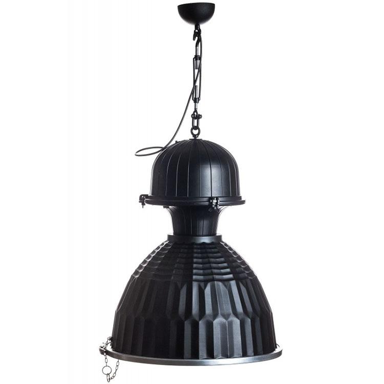 Lampa Industrialna Wiszaca London Czarna Loft