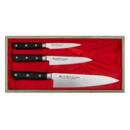 SATAKE Satoru Zestaw 3 noży kuchennych - Szefa, Uniwersalny i do obierania HG8364