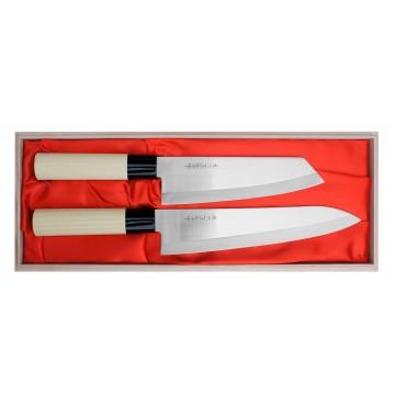 SATAKE Megumi Zestaw Nóż Bunka + Szefa HG8167W
