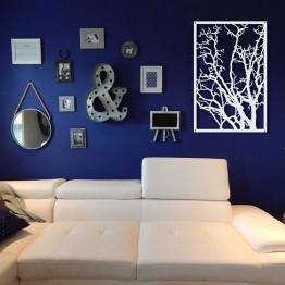 Dekor obraz metalowy na ścianę DRZEWO