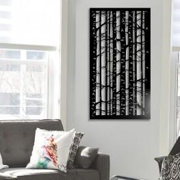 Dekor obraz metalowy na ścianę BRZOZA