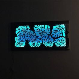 Dekoracja ścienna led ze stali nierdzewnej LIGHT BOX kaseton podświetlany
