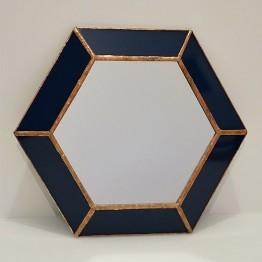 HEBITO Lustro dekoracyjne HEX - Granat / miedź