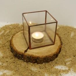 HEBITO Szklarnia geometryczna, doniczka, świecznik  - Sześcian