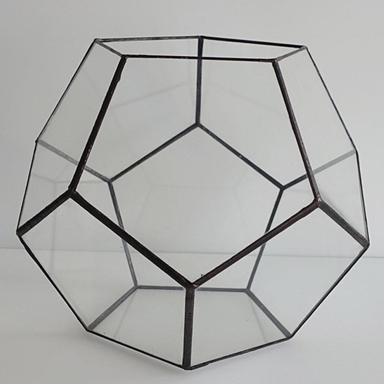 Hebito Doniczka Geometryczna Szklana świecznik Dodekaedr