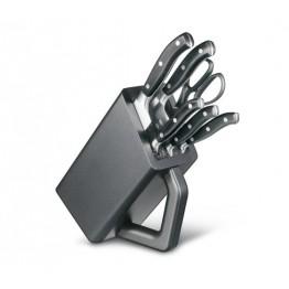 VICTORINOX Blok i noże kuchenne Grand Maître - Czarne - 6 elementów 7.7243.6