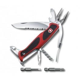 VICTORINOX Scyzoryk Ranger Grip 174 Handyman - Czerwony / czarny 0.9728.WC