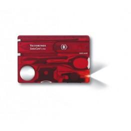 VICTORINOX Karta SwissCard Lite - Czerwony transparentny 0.7300.T