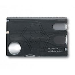 VICTORINOX Karta SwissCard Nailcare - Czarny transparentny 0.7240.T3