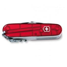 VICTORINOX Scyzoryk Swiss Champ - Czerwony transparentny 1.6795.T