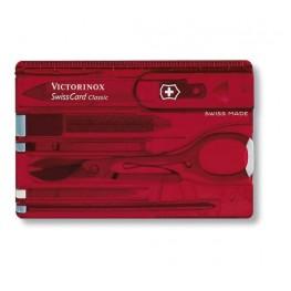 VICTORINOX Karta szwajcarska - SwissCard - Czerwony transparentny 0.7100.T