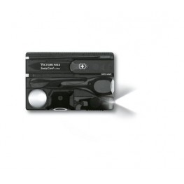 VICTORINOX Karta SwissCard Lite - Czarny transparentny 0.7333.T3