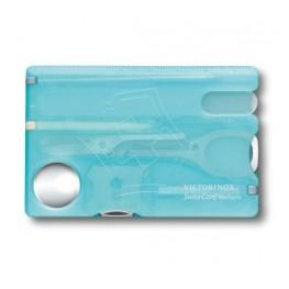 VICTORINOX Karta SwissCard Nailcare - Niebieski transparentny 0.7240.T21