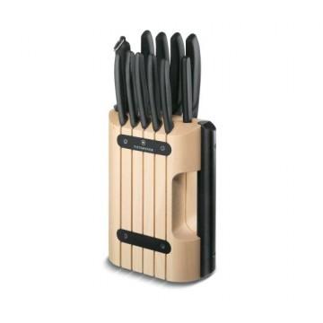 VICTORINOX Zestaw blok i noże kuchenne  – 11elementów 6.7153.11