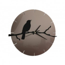 Zegar ścienny PTAK - Tortora/czarny