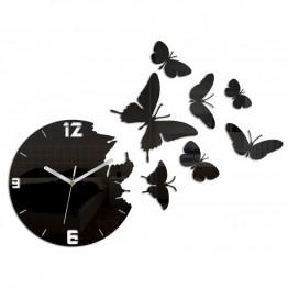 Zegar ścienny MOTYLE - Czarny