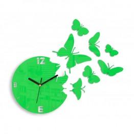 Zegar ścienny MOTYLE - Zielony
