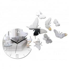 Zegar ścienny MOTYLE Deluxe - LUSTRO