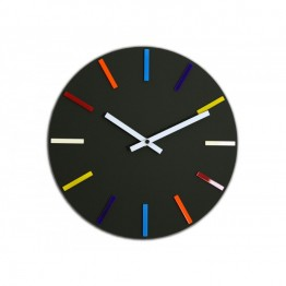 Zegar ścienny KOLOROWY - Czarny