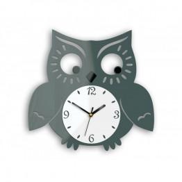Zegar ścienny SOWA - Szary - Różne kolory