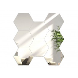 Lustro modułowe HEXAGON / Plaster miodu - Lustro - 8 sztuk