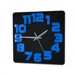Zegar ścienny COMIC - Czarny / niebieski
