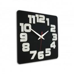 Zegar ścienny COMIC - Czarny / biały