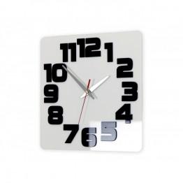 Zegar ścienny COMIC - Biały / czarny