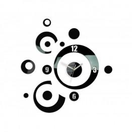 Zegar ścienny KOŁA 2 - Czarny