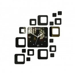 Zegar ścienny KWADRATY 2 - Wenge