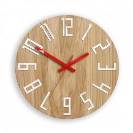 Zegar ścienny WOOD COLOR - Czerwony