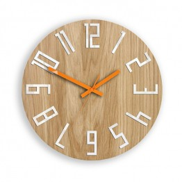Zegar ścienny WOOD COLOR - Pomarańczowy