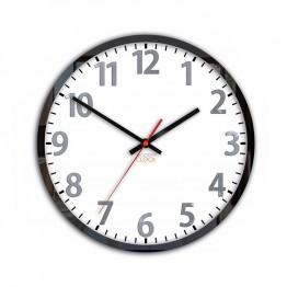 Zegar ścienny FRANK Biały / Metalic Aluminium