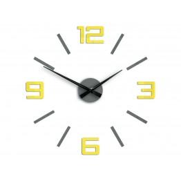Zegar ścienny SYNTAX  - Żółty / Szary